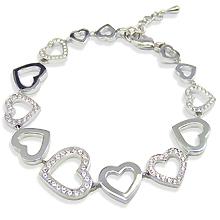 Brautschmuck armband silber  Nobel-Shop Armbänder - BRAUTSCHMUCK