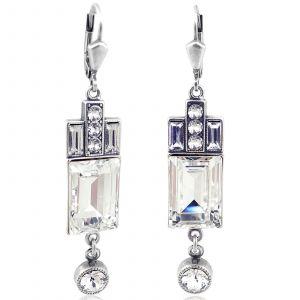 Artdeco Ohrringe Swarovski® Kristalle Silber Viele Farben NOBEL SCHMUCK