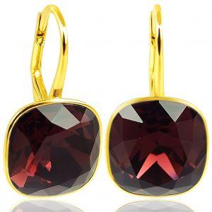 Ohrringe Gold Burgundy mit Kristallen von Swarovski® Rot NOBEL SCHMUCK