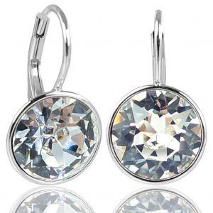 Nobel Silberohrringe 925 Kristalle Damen-Ohrringe mit Klapperverschluß