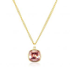 Kette mit Markenkristall Gold Halskette von NOBEL SCHMUCK