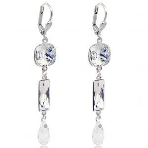 Ohrringe Ohrhänger mit Kristallen von Swarovski® Silber Gold Damen NOBEL SCHMUCK