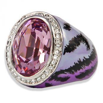 Ring mit Kristalle von Swarovski® Gr. 57 Silber Light Amethyst NOBEL SCHMUCK