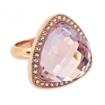 Ring Rosegold mit Markenkristallen großer Kristall viele verschiedene Größen NOBEL SCHMUCK