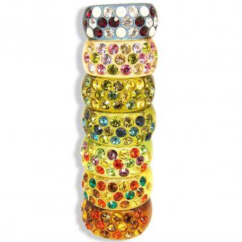 Ring mit Kristallen von Swarovski® Gr. 56 verschiedene Farben bunt NOBEL SCHMUCK