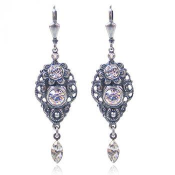 NOBEL SCHMUCK Jugendstil Ohrringe mit Kristallen von Swarovski® Silber Ohrhänger