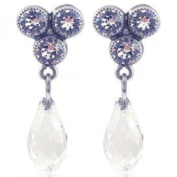 Ohrringe mit Kristallen von Swarovski® Ohrstecker versilbert viele Farben NOBEL SCHMUCK