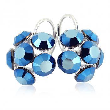 NOBEL SCHMUCK Ohrringe mit Kristallen von Swarovski® Silber Blüten Viele FARBEN