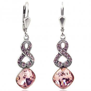 Ohrhänger mit Kristallen von Swarovski® Silber Viele Farben NOBEL SCHMUCK