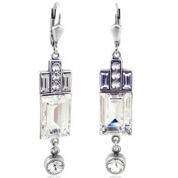 Artdeco Ohrringe Markenkristalle Silber Viele Farben NOBEL SCHMUCK
