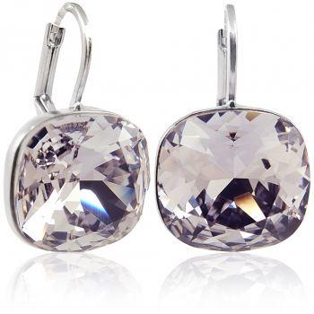 Ohrringe mit Kristallen von Swarovski® Mauve Silber NOBEL SCHMUCK