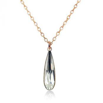 Rosegold-Kette mit Kristallen von Swarovski® Crystal NOBEL SCHMUCK