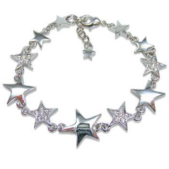 Armband Stern mit Kristallen von Swarovski® NOBEL SCHMUCK