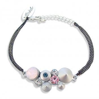 Damen-Armband mit Kristalle von Swarovski® Silber Rosa Blau NOBEL SCHMUCK