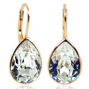 NOBEL SCHMUCK Ohrringe Rosegold 925 Sterling Silber Kristallen von Swarovski®