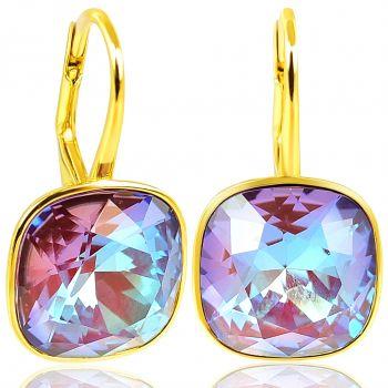 NOBEL SCHMUCK Ohrringe Gold Burgundy Delite mit Kristallen von Swarovski® 925 Sterling