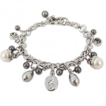 Bettelarmband mit Kristallen von Swarovski® Damen-Armband Versilbert oder Vergoldet von NOBEL SCHMUCK