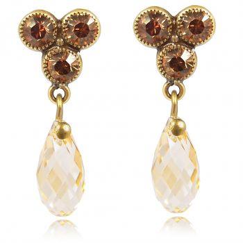 Ohrringe mit Kristallen von Swarovski® Ohrstecker Vergoldet viele Farben NOBEL SCHMUCK
