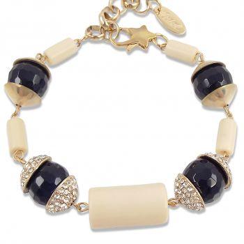 Armband Farbe Gold Blau mit Stein Armschmuck Chocker NOBEL SCHMUCK