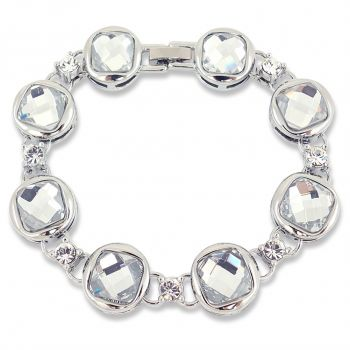 Damen-Armband Kristall Silber fassettierte Kristalle NOBEL SCHMUCK