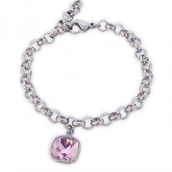 Armband Markenkristall Silber verschiedene Farben NOBEL SCHMUCK