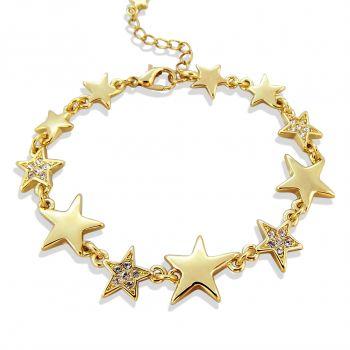 Armband Stern mit Kristallen von Swarovski® Gold NOBEL SCHMUCK