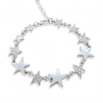 Armband Stern mit Markenkristallen Silber NOBEL SCHMUCK