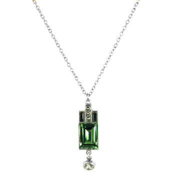 Artdeco Kette Silber mit Kristallen von Swarovski® Viele Farben NOBEL SCHMUCK