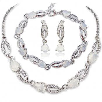 Schmuck-Set mit Kristallen von Swarovski® Silber NOBEL SCHMUCK
