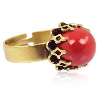 Vintage Schmuck Ring Gold Kroalle Variabel Verstellbar NOBEL SCHMUCK