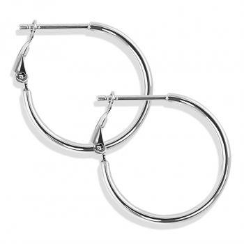 Silber-Creolen Ohrringe 925 Sterling Durchmesser 20 mm Klappverschluss NOBEL SCHMUCK®