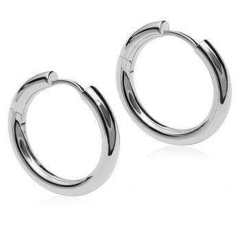 Silber-Creolen Ohrringe 925 Sterling Durchmesser 14 mm NOBEL SCHMUCK®