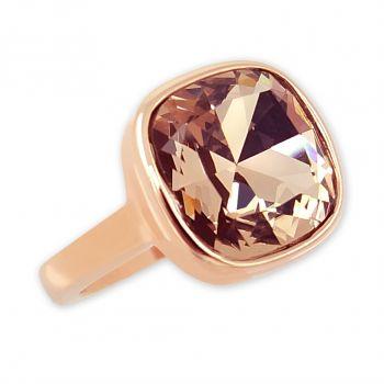 Damen-Ring Rosegold vergoldet mit Markenkristall NOBEL SCHMUCK