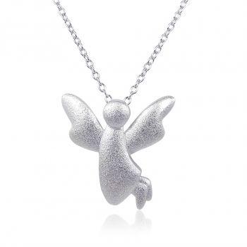 NOBEL SCHMUCK Silberkette Engel 925 Sterling - Halskette mit Schutzengel
