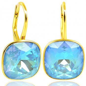 NOBEL SCHMUCK Ohrringe Gold Ocean Delite mit Kristallen von Swarovski® 925 Sterling