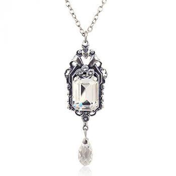 Jugendstil Kette mit Kristallen von Swarovski® Silber Crystal NOBEL SCHMUCK