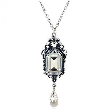 Jugendstil Kette mit Kristallen von Swarovski® Silber Silver Shade NOBEL SCHMUCK