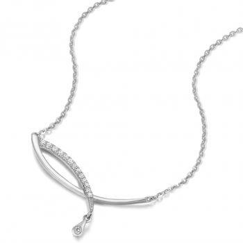 Damen-Kette 925 Sterling Silber Zirkonia von NOBEL SCHMUCK