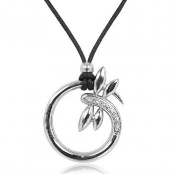 Kette Libelle mit Kristallen von Swarovski® Silber Damen Halskette NOBEL SCHMUCK