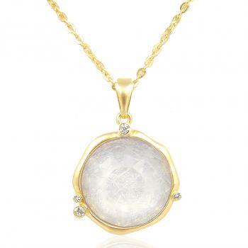 Kette Gold mit Kristallen von Swarovski® Damen Halskette vergoldet modern NOBEL SCHMUCK