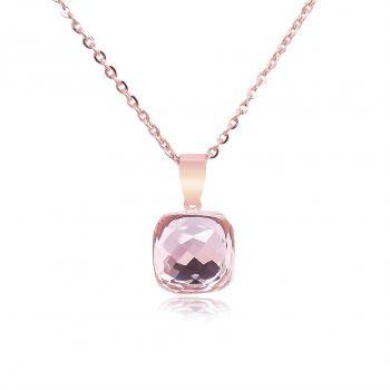 Kette Rosegold mit Kristall von Swarovski® Rosa NOBEL SCHMUCK