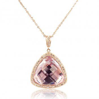 Kette mit Kristallen von Swarovski® Rosegold Rosa Violett NOBEL SCHMUCK