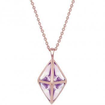 Nobel Damen-Kette Lang Kristall aus Österreich minimalistisch - modernes Design