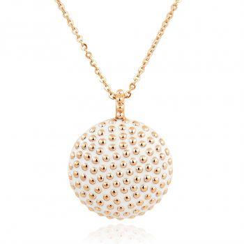 NOBEL SCHMUCK Rosegold-Kette mit Anhänger Weiß Damen Halskette
