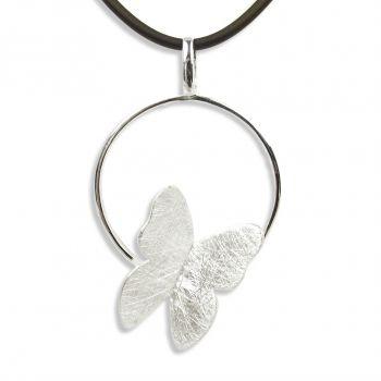 Silber-Kette Schmetterling 925 Sterling Silber Halskette NOBEL SCHMUCK