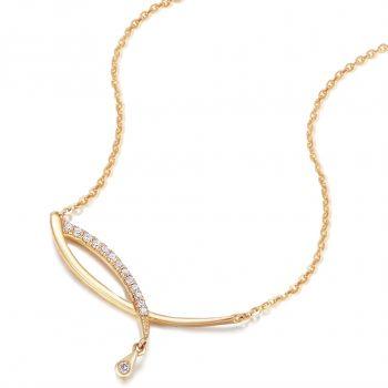 Damen-Kette 925 Sterling Silber 18 kt vergoldet Zirkonia von NOBEL SCHMUCK