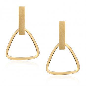 NOBEL SCHMUCK Gold-Ohrringe Dreieck 925 Sterling Silver Geometrisch