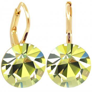 Damen-Ohrringe Gelb Gold mit Kristallen von Swarovski® Jonquil NOBEL SCHMUCK