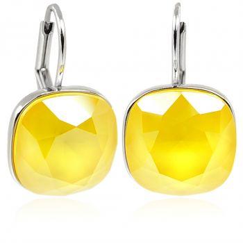 Ohrringe Silber Gelb mit Kristalle von Swarovski® NOBEL SCHMUCK