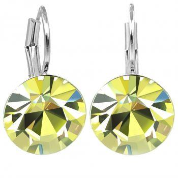 Damen-Ohrringe Gelb Silber mit Kristallen von Swarovski® Jonquil NOBEL SCHMUCK